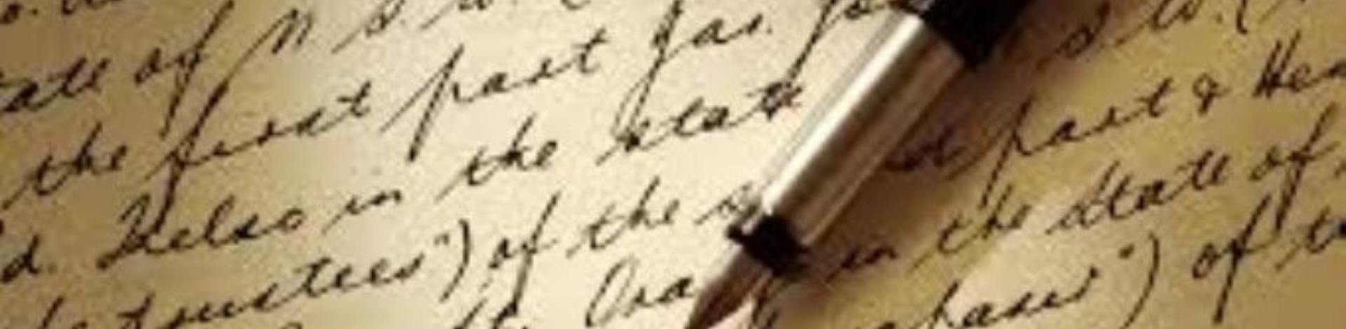 Old style pen and cursive writing