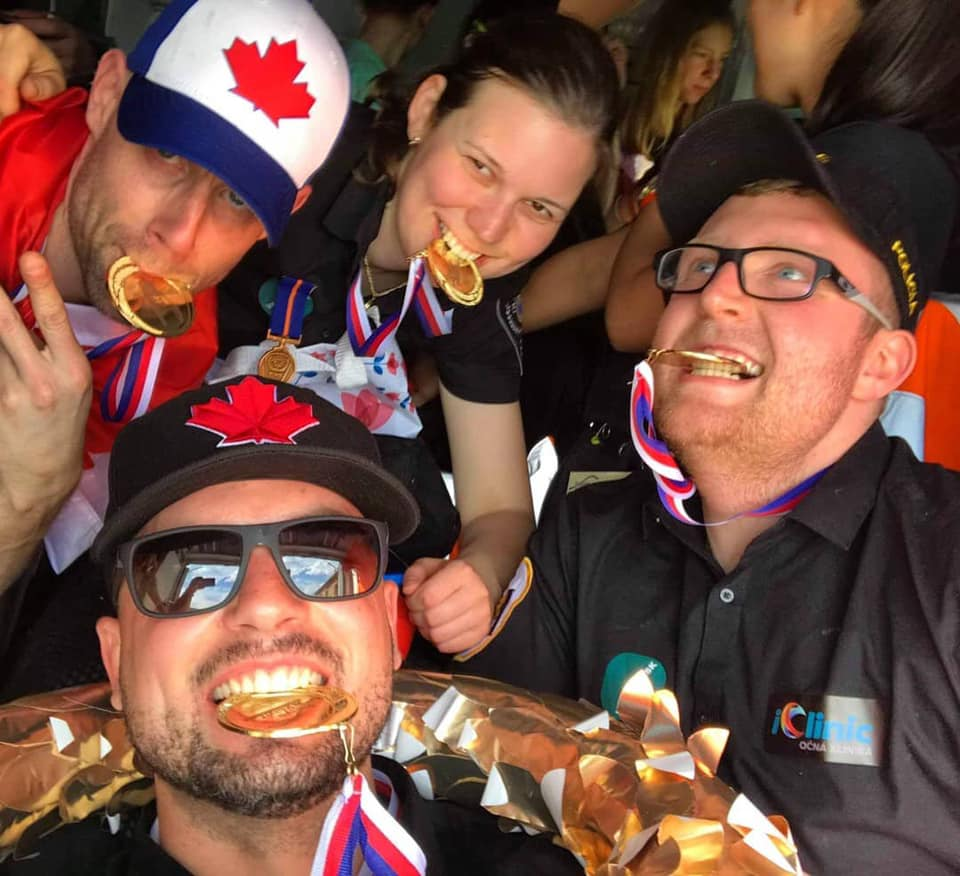 Essex-Windsor EMS Paramedics are all smiles after winning Gold at the Rallye Rejviz international paramedic competition.