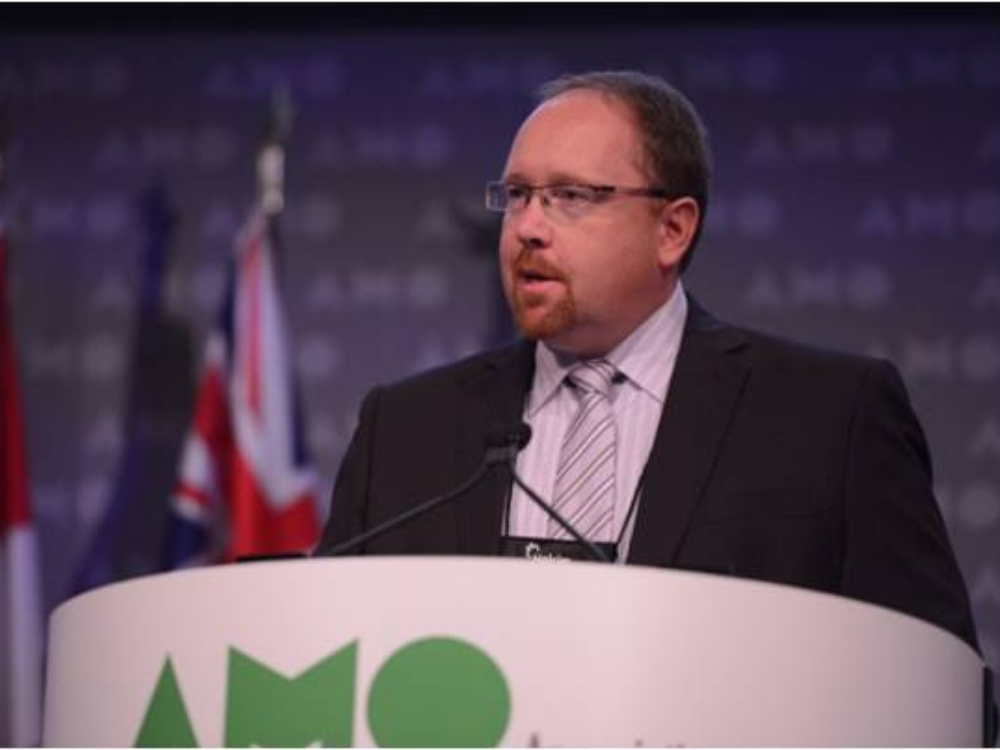 County of Essex CAO Mike Galloway speaks at the 2019 AMO Conference in Ottawa.