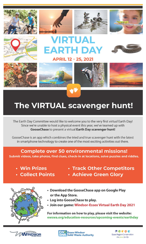 Earth Day 2021 scavenger hunt poster