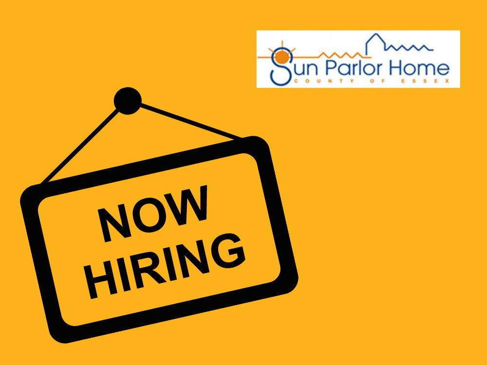We are hiring sign and Sun Parlor Home logo.