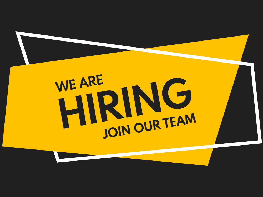 We are hiring. Join our team.
