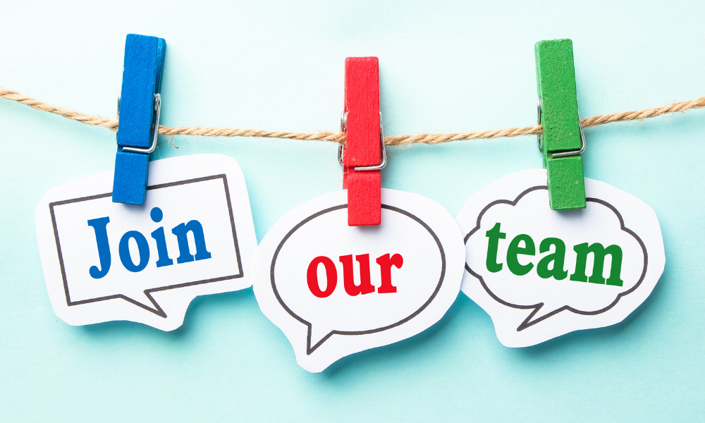Clothesline with the words: Join our team