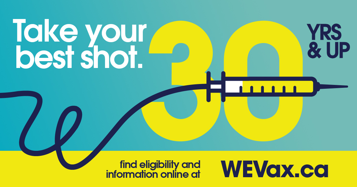 WEVax logo with the number 30