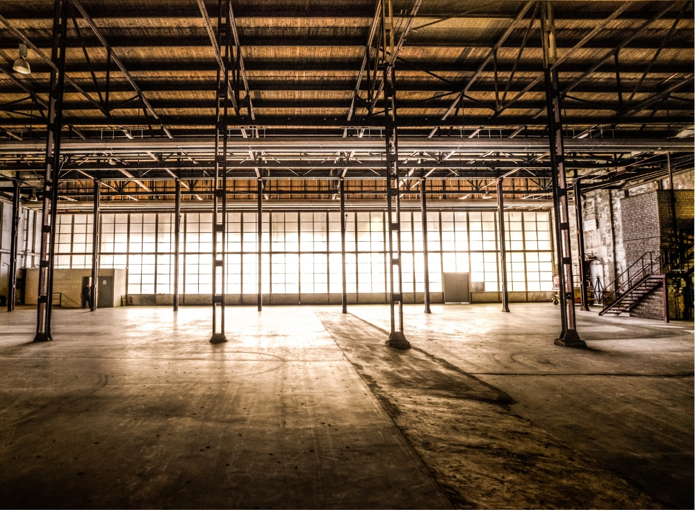 An empty warehouse