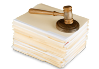 Gavel with Papers