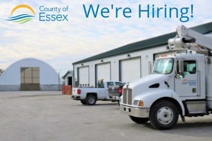 Essex County trucks and roads depot